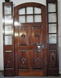 details about hand carved 4 panel 6 panel glass arch entry door d a