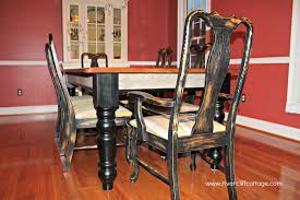 brilliant distressed dining room chairs 18