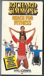 richard simmons workout video. richard simmons reach for fitness exercise workout program physically challenged - vhs video