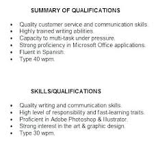 Summary For Resume Unique Qualification In Resume Sample Example Of Qualification In Resume