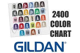 Gildan 2400 Long Sleeve T Shirt Color Chart