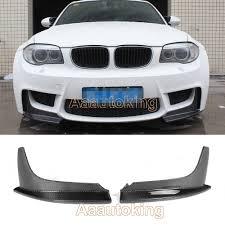BMW 3 Series bmw 128i body kit : Carbon Fiber Front Bumper Splitters Valance Flaps Lip for BMW 1M 1 ...