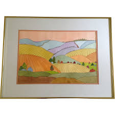 margaret crabbe hiatt rolling hills painting margaret crabbe hiatt 1906 2002 rolling hills painting original watercolor works on paper signed by colorado artist