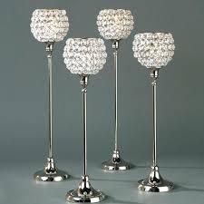 tall candle holders bulk long stem glass tealight