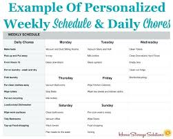 Daily Weekly Monthly Chores House Cleaning Schedule House Cleaning Schedule Daily Weekly Monthly
