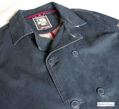 men s cotton peacoat distressed navy blue