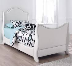 upholstered leather sleigh bed. Mivara Twin Faux Leather Upholstered Sleigh Bed With Nailhead Trim S