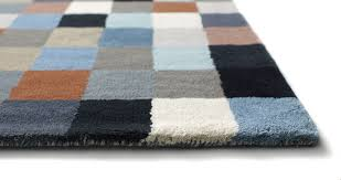 contemporary rug patterned wool rectangular