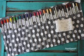 diy fabric pencil organization