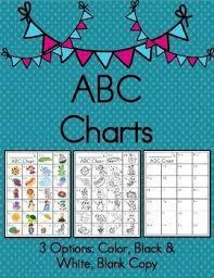 Abc Chart Printable Color Black White Blank Copy