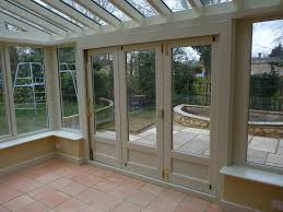 bi fold doors wooden or double glaze aluminium by interior