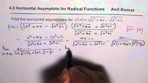 how to find horizontal asymptote for radical expressions