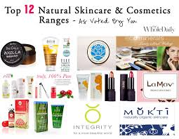 top 12 natural skincare ranges and cosmetics