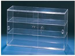 acrylic two shelf counter display case for larger image