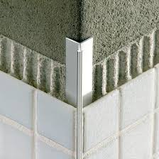 aluminum edge trim for tiles outside corner invisible mosaictec rjf