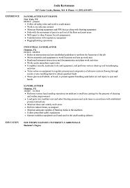 sandblaster resume sample as image file
