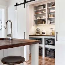 Large Farmhouse Enclosed Kitchen Ideas   Large Country L Shaped Medium Tone  Wood Floor And