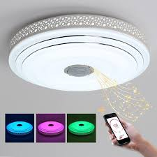 bule time lamp modern led chandelier res with bluetooth control color changing ceiling chandeliers lighting fixture glass chandeliers glass ball