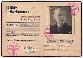 Work Documents Wwii – Berlin K-townconsignments Dealer Art Travel Passport Original Germany