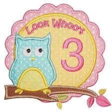 Owl Birthday Applique Design Owl Birthday Set Planet Applique Inc Planet Applique