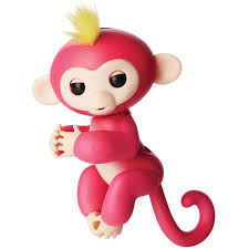 Fingerlings - Interactive Baby Monkey - Bella (Pink with Yellow Hair ...