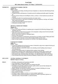 Resumes For Warehouse Work Resume Templates Worker Cv Template 19