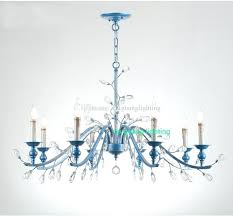 led indoor hanging lighting blue rustic crystal chandelier bedroom chandeliers dining room modern hall shade glass