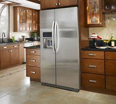 counter depth refrigerator in kitchen. counter-depth refrigerators are narrower in depth than standard sizes, so most installations only the refrigerator doors will stick out past your counter kitchen o