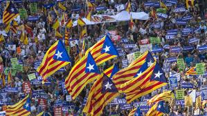 Resultado de imagen de Cataluña. Peleas por la Guerra de banderas