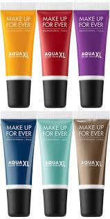 make up for ever aqua xl color paint shadow gives us some high impact shades for eyes