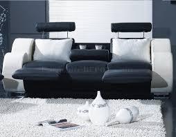 White Living Room Sets Black White Leather Modern 3pc Living Room Set T17