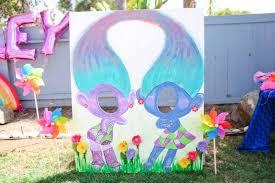 ideas twin s satin chenelle troll photo booth from a troll tastic trolls birthday