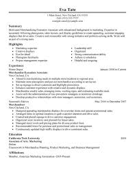 Merchandising Execution Associate Resume Sample