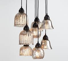 mercury glass chandelier incredible kenzie pottery barn interior design 9