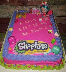 Shopkins Sheet Cake Birthday Cake Twisted Kitty Cakes In 2019