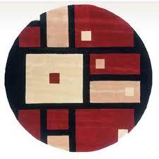 momeni new wave 50 black round 5 ft 9 in x 5 ft 9 in rug