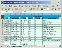 Tracking Expenses In Excel Free Expense Tracker A Simple Excel Spreadsheet May Be All