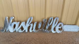 Nashville Sign Decor Metal Nashville signNashville metal sign rustic nashville 1