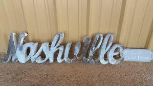Nashville Sign Decor Metal Nashville signNashville metal sign rustic nashville 1