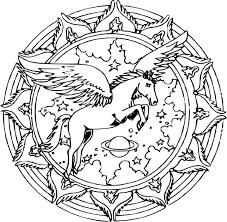 Coloriage Mandala Licorne Imprimer Sur Coloriages Info