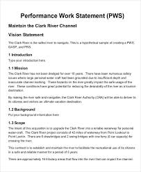 Sample Statement Of Work Template 9 Work Statement Examples Samples Examples