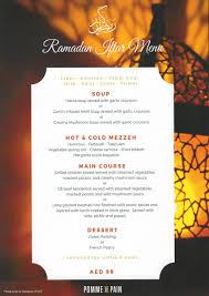Iftar Menu Design Ramadan Specials Pomme De Pain Middle East