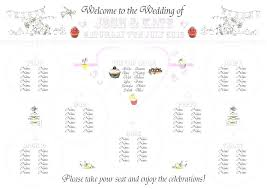 long table seating plan template wedding reception chart round dinner dining free