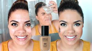 new make up for ever water blend foundation wear waterproof test on oily skin samantha jane you