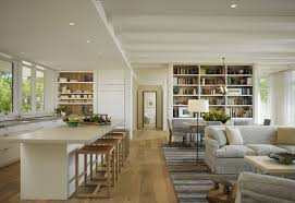 Scenic River Views And IndoorOutdoor Interplay Shape Classy Contemporary Open Plan Kitchen Living Room