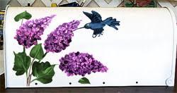 painted mailbox designs. Fine Painted Hummingbird U0026 Lilacs Mailbox  On Painted Designs