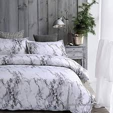 amor amore white marble comforter