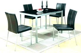 small table and 2 chairs round glass dining