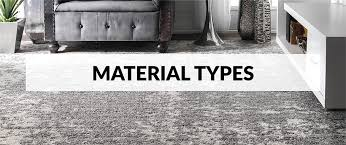 material type is a very important factor to think of when choosing an area rug while considering diffe materials it s important to keep in mind that