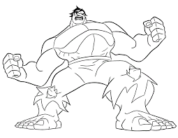 Hulk Coloring Pages To Print Color Bros